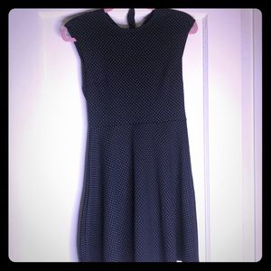BRAND NEW Gap Black Dress with white polka dots